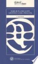 libro Bases De Planificación Lingüística Para Andalucía