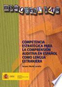 libro Competencia Estratégica Para La Comprensión Auditiva En Español Como Lengua Extranjera