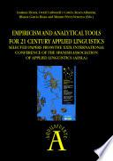 libro Empiricism And Analytical Tools For 21 Century Applied Linguistics