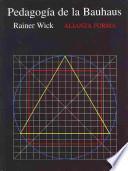 libro La Pedagogía De La Bauhaus