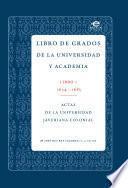 libro Libro De Grados De Universidad Y La Academia.