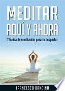 libro Meditar Aquí Y Ahora. Técnica De Meditación Para Tu Despertar.
