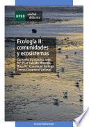 libro EcologÍa Ii: Comunidades Y Ecosistemas