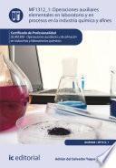 libro Operaciones Auxiliares Elementales En Laboratorio Y En Procesos En La Industria Química Y Afines. Quie0308