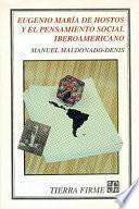 libro Eugenio María De Hostos Y El Pensamiento Social Iberoamericano