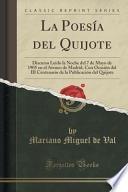 libro La Poesía Del Quijote