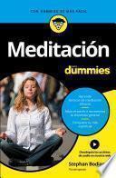 libro Meditación Para Dummies