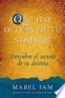 libro Que Hay Detras De Tu Nombre?