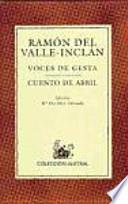 libro Voces De Gesta
