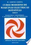 libro Máquinas Síncronas Y Motores C.a. De Colector