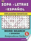 libro Sopa De Letras En Español (word Search In Spanish)