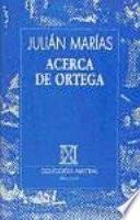 libro Acerca De Ortega