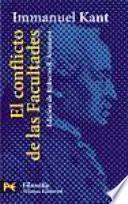 libro El Conflicto De Las Facultades, En Tres Partes