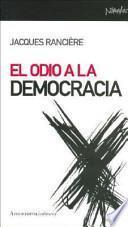 libro El Odio A La Democracia