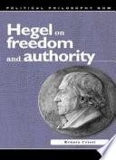 libro Hegel On Freedom And Authority