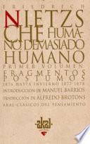 libro Humano, Demasiado Humano (2 Volúmenes)