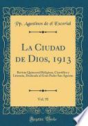libro La Ciudad De Dios, 1913, Vol. 93