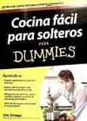 libro Cocina Fácil Para Solteros Para Dummies