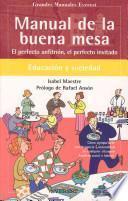 libro Manual De La Buena Mesa