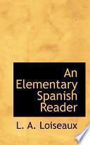 libro An Elementary Spanish Reader