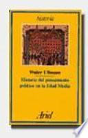 libro Historia Del Pensamiento Político En La Edad Media