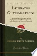 libro Literatos Guatemaltecos