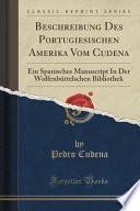 libro Beschreibung Des Portugiesischen Amerika Vom Cudena
