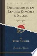 libro Diccionario De Las Lenguas Española E Inglesa, Vol. 2