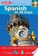 libro Spanish In 30 Days