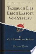 libro Tagebuch Des Erich Lassota Von Steblau (classic Reprint)