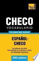 libro Vocabulario Espanol Checo   3000 Palabras Mas Usadas