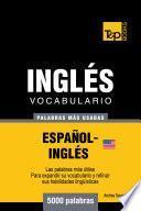 libro Vocabulario Español Inglés Americano   5000 Palabras Más Usadas