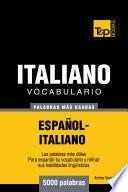 libro Vocabulario Español Italiano   5000 Palabras Más Usadas