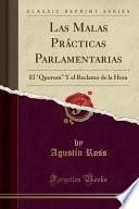 libro Las Malas Prácticas Parlamentarias