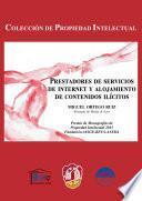 libro Prestadores De Servicios De Internet Y Alojamientos De Contenidos Ilícitos