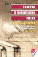 libro Principios De Administración Pública