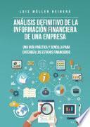 Análisis Definitivo De La Información Financiera De La Empresa