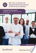 libro Gestión De Departamentos De Servicio De Alimentos Y Bebidas. Hotr0409