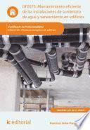 libro Mantenimiento Eficiente De Las Instalaciones De Suministro De Agua Y Saneamiento En Edificios. Enac0108