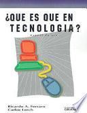 libro Qué Es Qué En Tecnología?