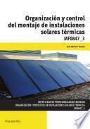 libro Mf0847_3 Organización Y Control Del Montaje De Instalaciones Solares Térmicas