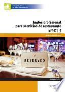 libro Mf1051_2 Inglés Profesional Para Servicios De Restauración