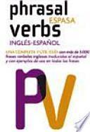 libro Phrasal Verbs Espasa : Inglés Español