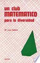 libro Un Club Matemático Para La Diversidad