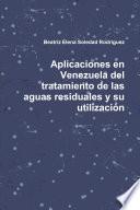 libro Aplicaciones En Venezuela Del Tratamiento De Las Aguas Residuales Y Su Utilización