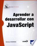 libro Aprender A Desarrollar Con Javascript