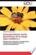 libro Caracteristicas Morfo Biométrica De La Abeja Apis Mellifera L