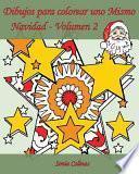 libro Dibujos Para Colorear Uno Mismo   Navidad   Volumen 2