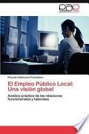 El Empleo Público Local: Una Visión Global