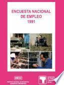 libro Encuesta Nacional De Empleo 1991